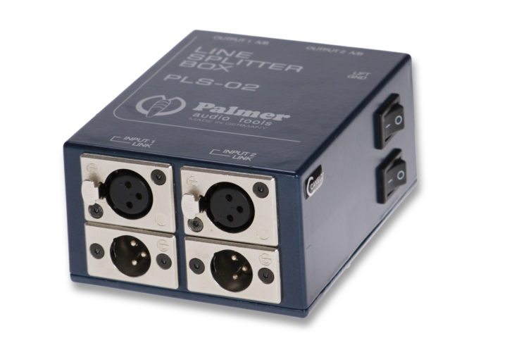 Palmer PLS-02 Splitbox, 2 Kanäle, passiv, 1 auf 3